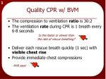 quality cpr w bvm
