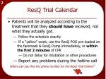 resq trial calendar1