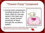 thoracic pump component
