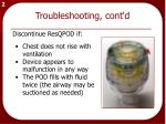 troubleshooting cont d