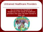 untrained healthcare providers