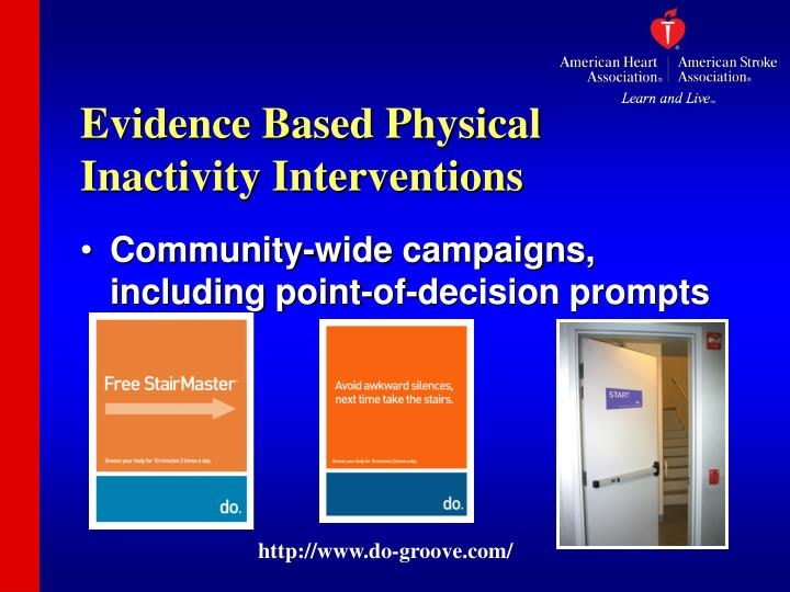 Evidence Based Physical Inactivity Interventions