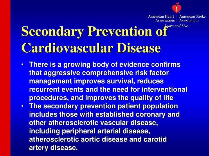 Secondary Prevention of Cardiovascular Disease