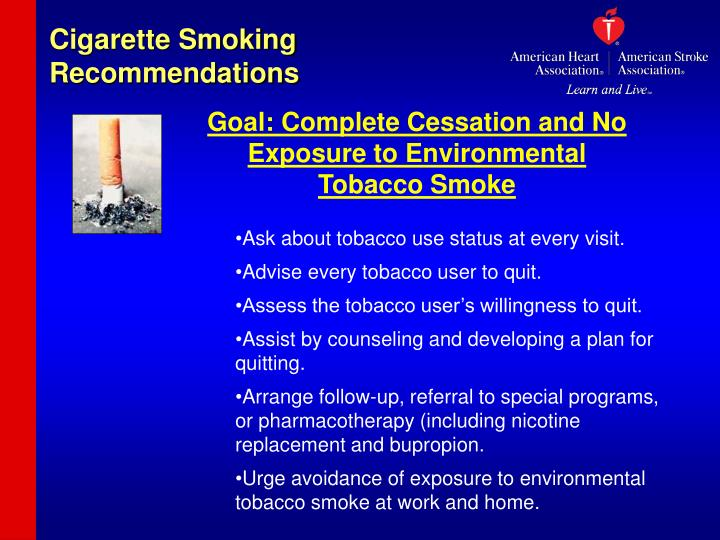 Cigarette Smoking Recommendations
