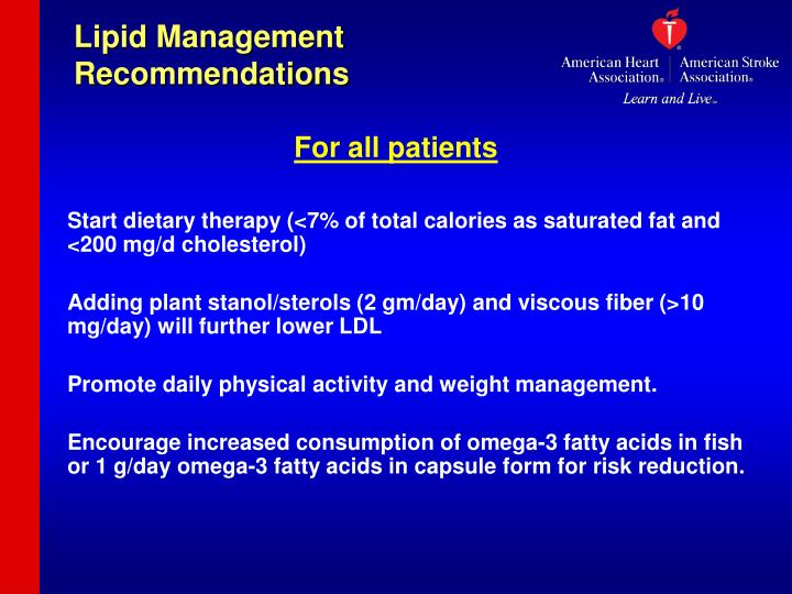 Lipid Management Recommendations