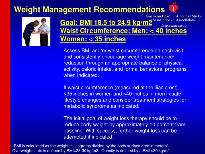 Weight Management Recommendations