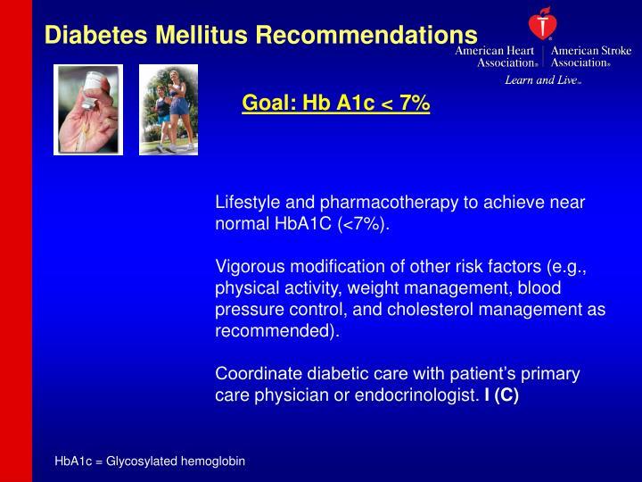 Diabetes Mellitus Recommendations