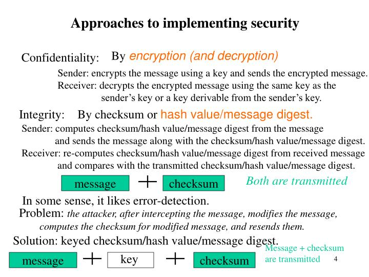 Approaches to implementing security