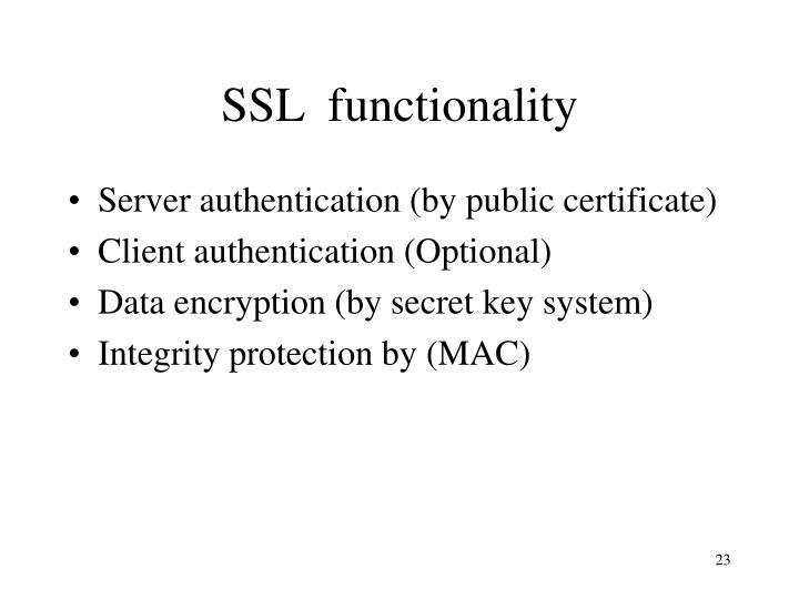 SSL  functionality