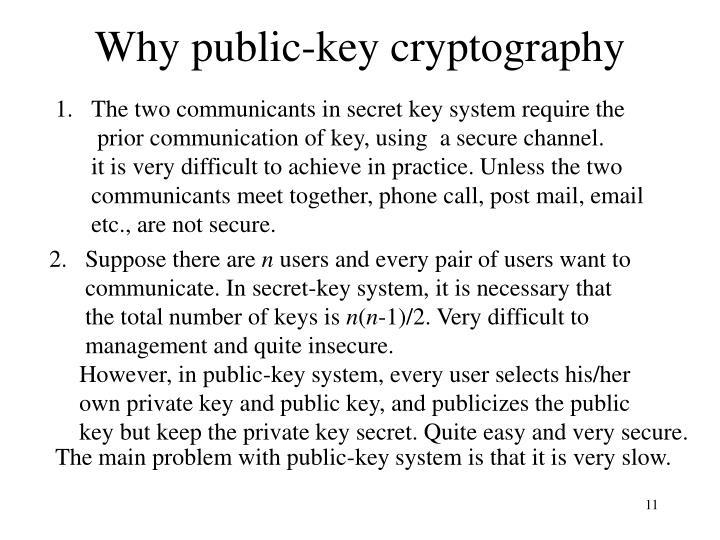 Why public-key cryptography