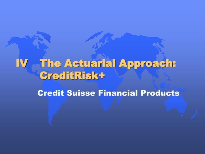 Credit Suisse Financial Products