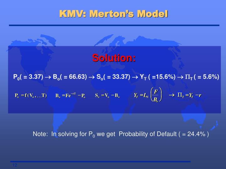 KMV: Merton's Model
