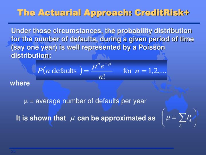 The Actuarial Approach: CreditRisk+