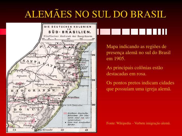 ALEMÃES NO SUL DO BRASIL