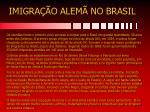 imigra o alem no brasil