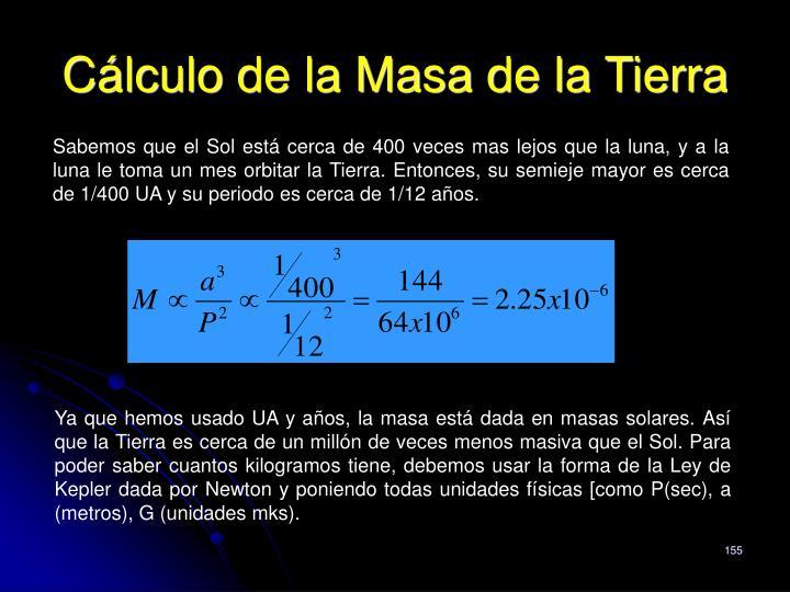 Cálculo de la Masa de la Tierra