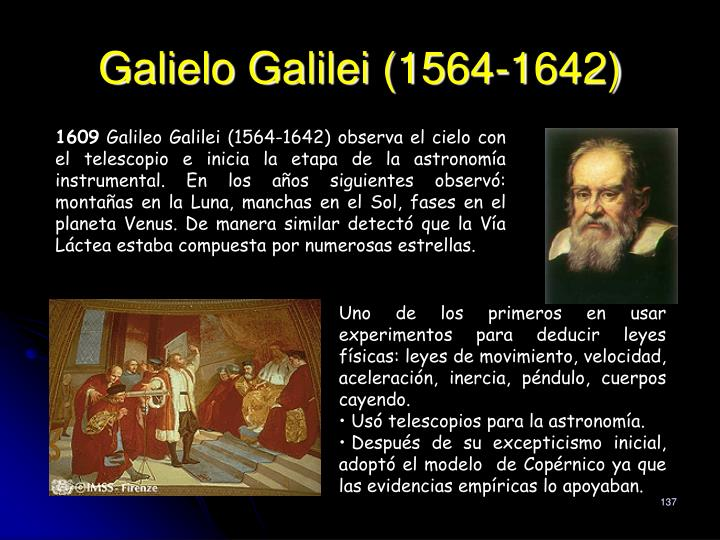 Galielo Galilei (1564-1642)