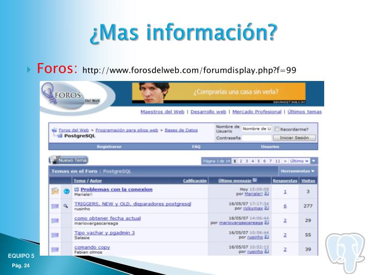 ¿Mas información?