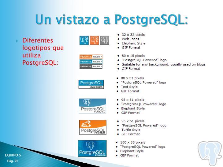 Un vistazo a PostgreSQL: