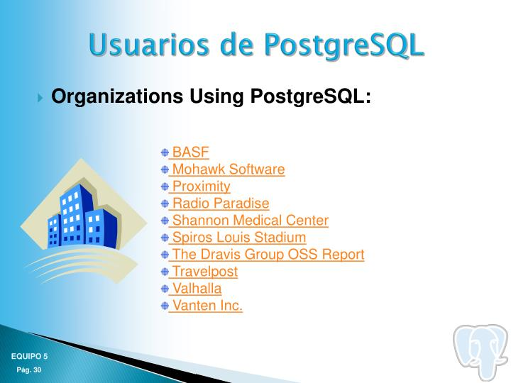 Usuarios de PostgreSQL