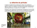 la d tection de particules