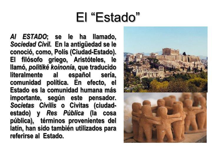 """El """"Estado"""""""