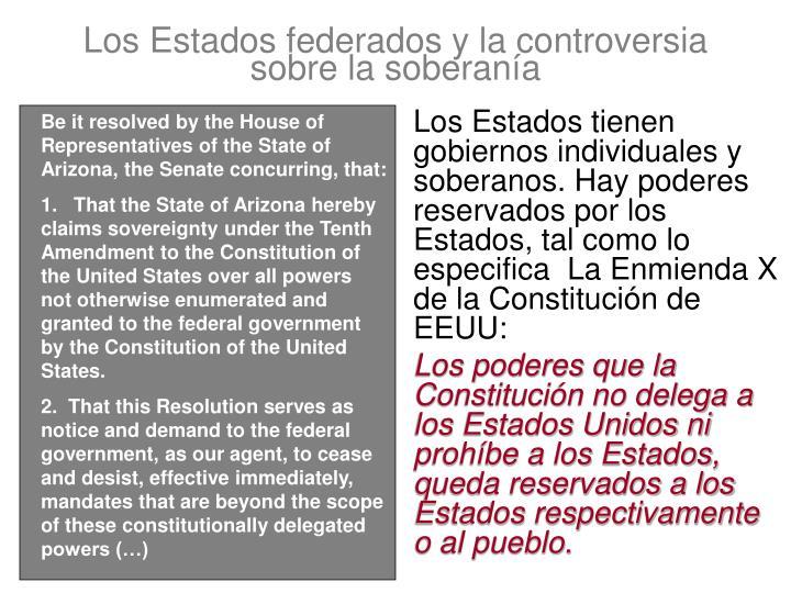 Los Estados federados y la controversia sobre la soberanía