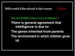 differential educational achievement 1 class1