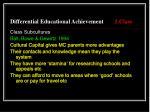 differential educational achievement 1 class10