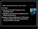 differential educational achievement 1 class3