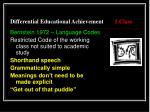 differential educational achievement 1 class6