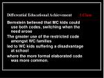 differential educational achievement 1 class8