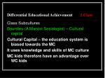 differential educational achievement 1 class9