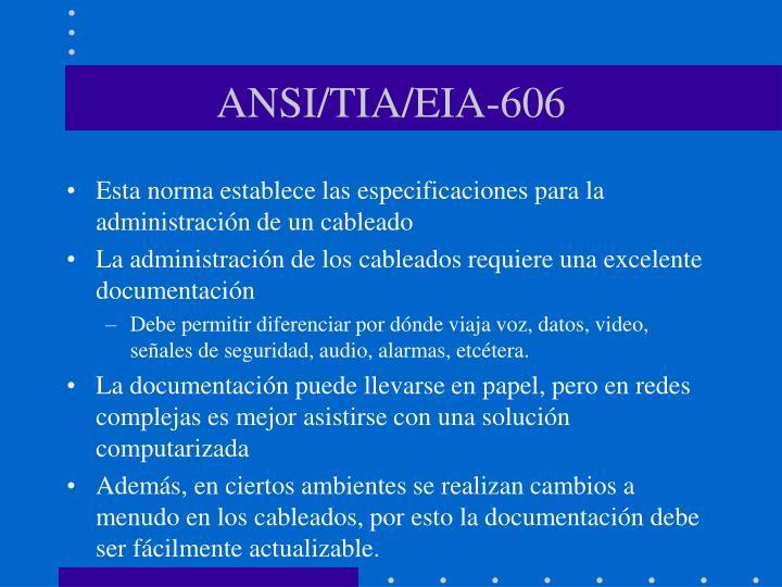 ANSI/TIA/EIA-606