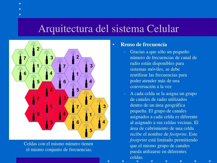 Arquitectura del sistema Celular