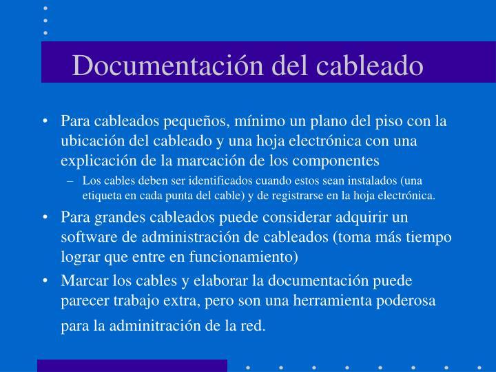 Documentación del cableado