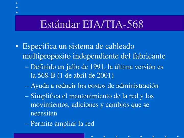 Estándar EIA/TIA-568