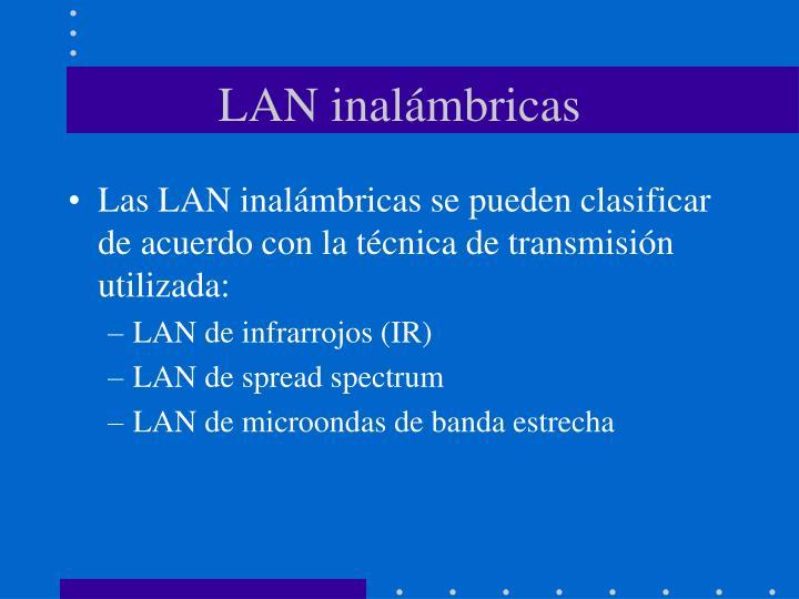 LAN inalámbricas