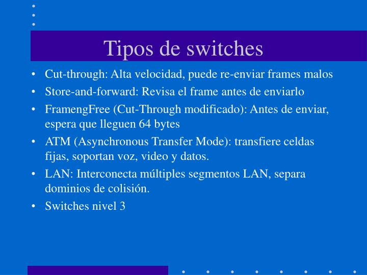 Tipos de switches