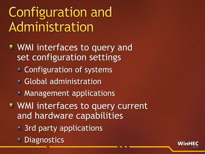 Configuration and Administration