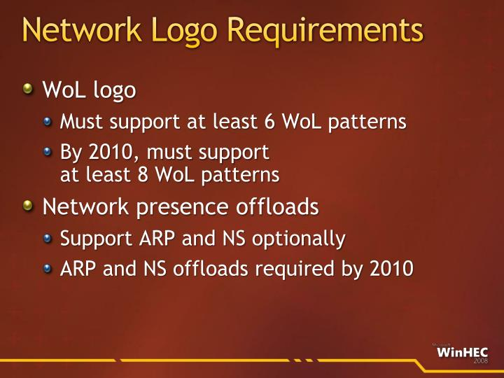 Network Logo Requirements