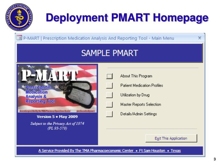 Deployment PMART Homepage