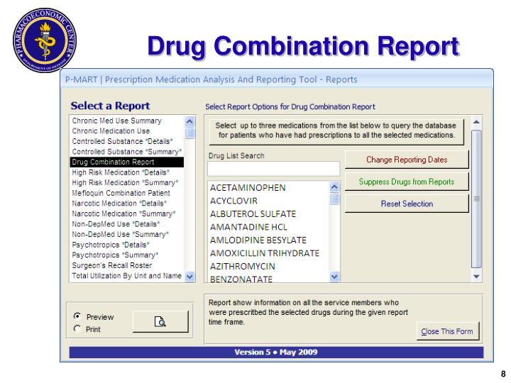 Drug Combination Report