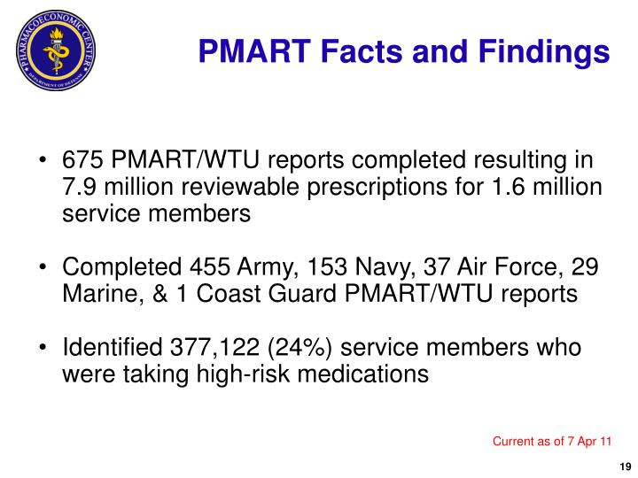 PMART Facts and Findings
