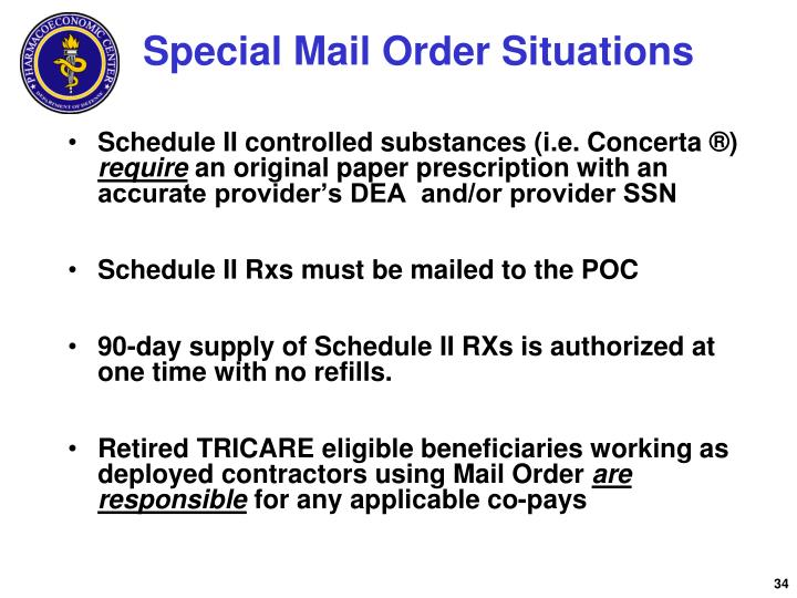 Special Mail Order Situations