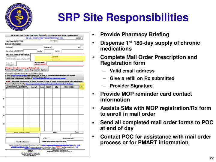 SRP Site Responsibilities