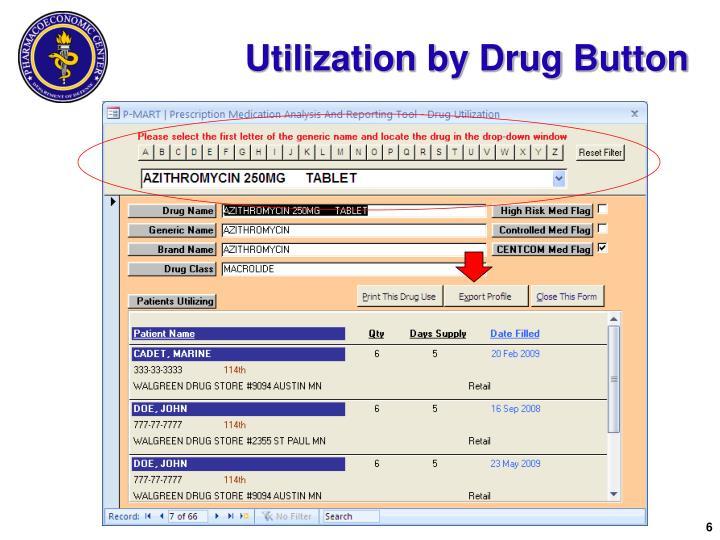 Utilization by Drug Button
