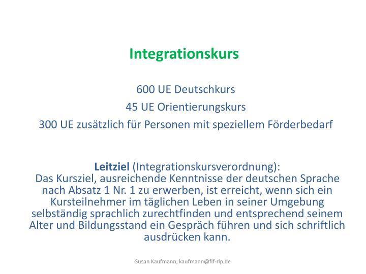 Integrationskurs
