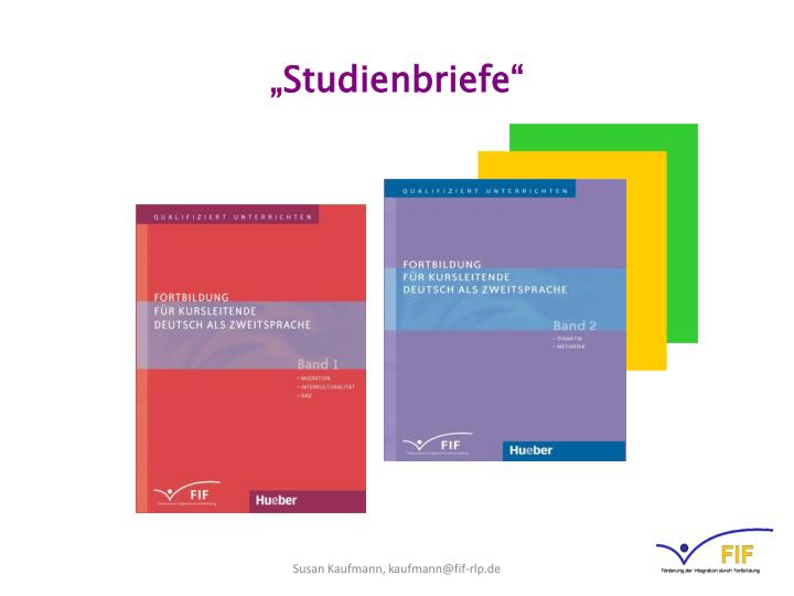 """Studienbriefe"""
