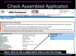 check assembled application1